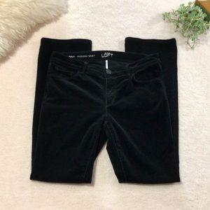 LOFT Modern Boot Black Corduroy Pants